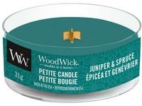 Woodwick Juniper & Spruce svíčka petite