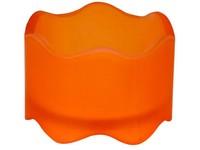 Bolsius Svícen sklo 50x72 mm na Čaj. Maxi svíčku oranžový